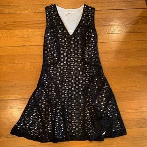 Derek Lam Black/White Cotton Dress